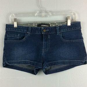 O'Neill Ladies Denim Booty Shorts Sz 5